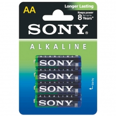 Pack of 4 Sony ECO LR6 batteries