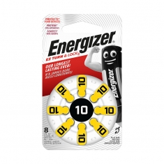 Pack of 8 Energizer AC10 hearing aid batteries