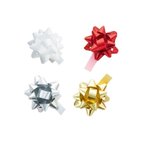 Pack of assorted self-adhesive confetti bows