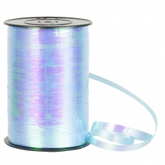 Pearlescent finish pale blue gift curling ribbon 7mm x 250m