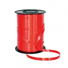 Plain red gift curling ribbon