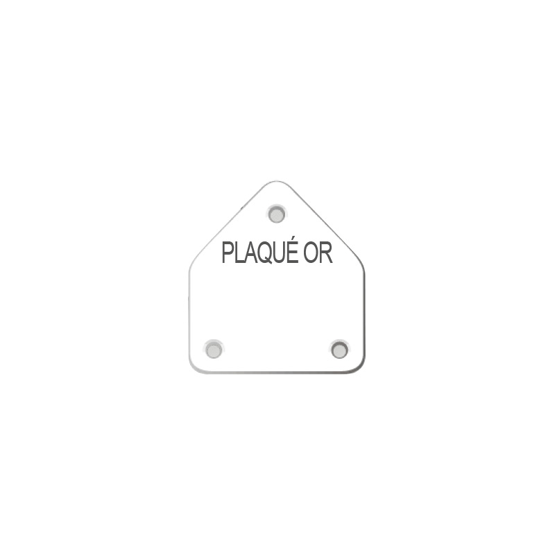 Plastic earring display labels in sheets - with French inscription PLAQUE OR
