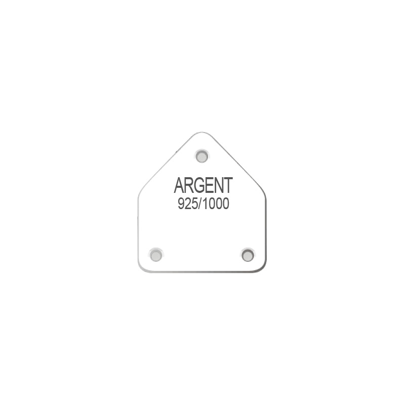 Plastic earring display labels in sheets with inscription in French - ARGENT 925/1000
