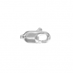 Rhodium plated sterling silver lobster claw trigger catch