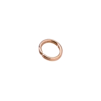 Rose-gold plated split rings