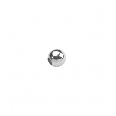 Round sterling silver spacer beads