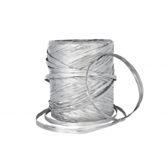 Silver colour raffia gift ribbon