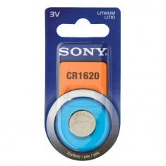 Sony CR1620 lithium button cell battery - in individual blister