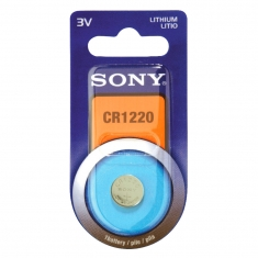 Sony lithium CR1220 battery in individual blisters