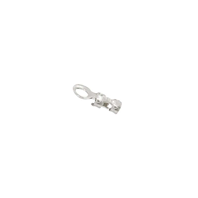 Sterling silver end cap with ring