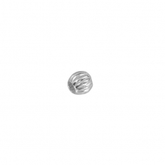 Sterling silver ridged spacer bead