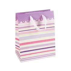 Striped paper carrier bag
