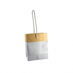 Two tone laminated paper carrier bags