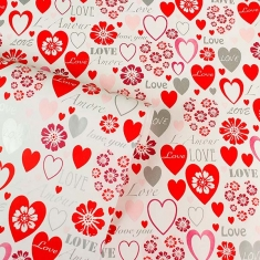 Valentine\\\'s Day love heart wrapping paper