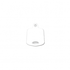 White plastic necklace and pendant hang cards